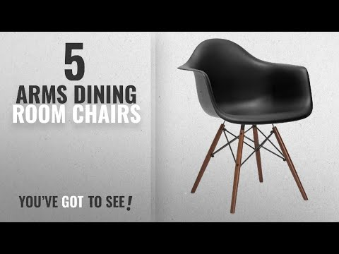 Top 10 Arms Dining Room Chairs [2018]: Poly and Bark Vortex Arm Chair Walnut Leg, Black