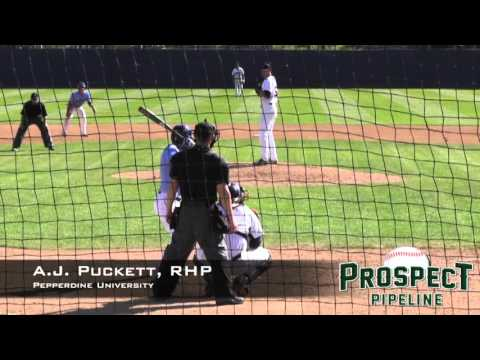 Pitches of the Day:  A.J. Puckett, RHP,  Pepperdine University,  K