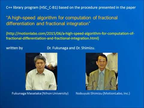 High Speed Computation of Fractional order differentiation and integration