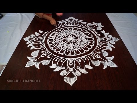 lotus kolam designs || rangoli designs of lotus || rangoli lotus designs || lotus rangoli designs