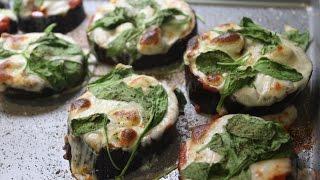 ❤ Eggplant, Chicken, And Spinach Pizza #fitpizza