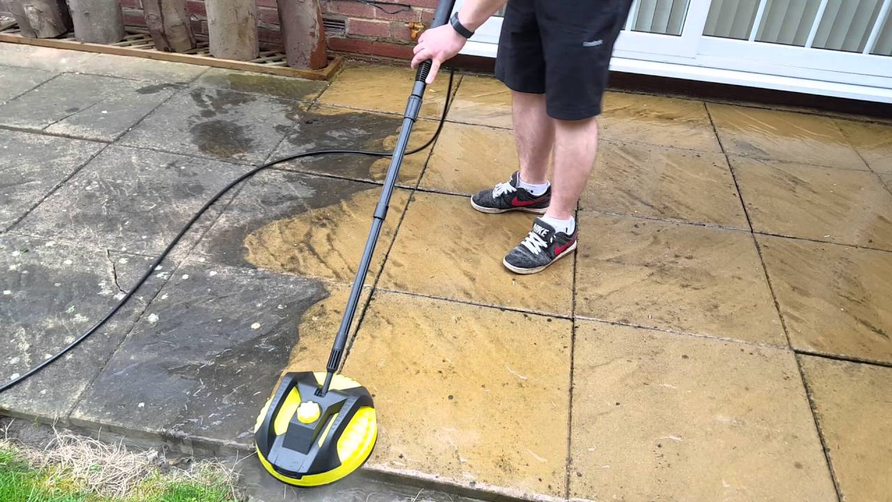 Karcher k4 parkside surface cleaner patio cleaning for Deck and concrete cleaner