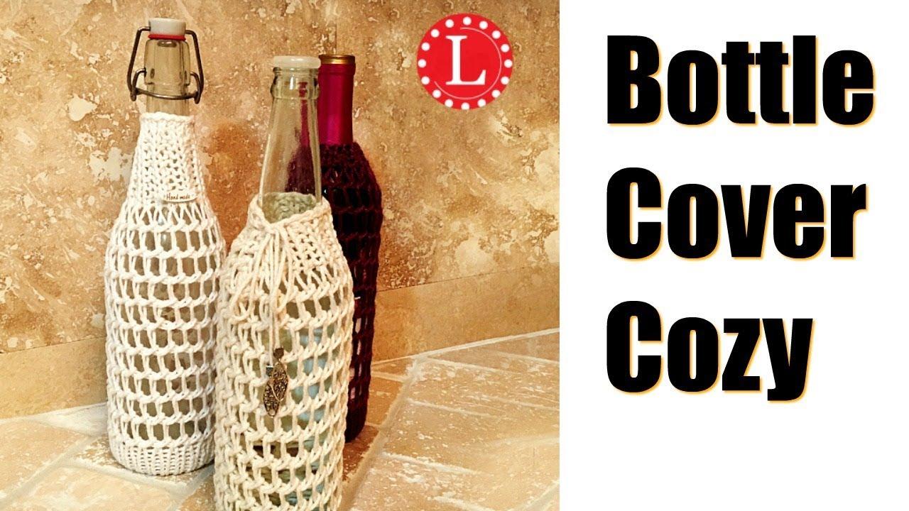 Knit Wine Bottle Cozy.Wine Bottle Cover LOOM KNIT On Round Loom Mesh ...