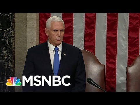 Congress Affirms Biden As President After Completing Electoral Vote Count   MSNBC