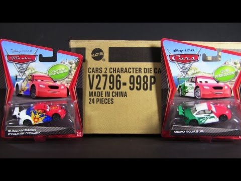 "2012 Cars 2 ""P"" Case with 2 Super Chase Die-Cast Unboxing Mattel Disney Pixar"