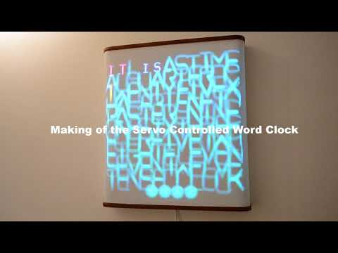 This Servo Driven Word Clock Creatively Mixes Light and