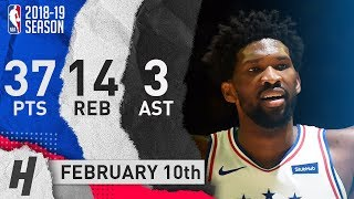 Joel Embiid EPIC Highlights 76ers vs Lakers 2019.02.10 - 37 Pts, 14 Reb, 3 Ast!