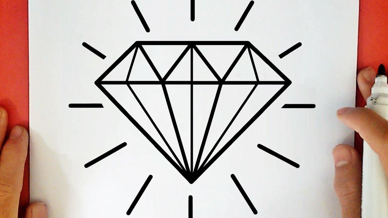 Como Desenhar Um Diamante Tumblr Youtube
