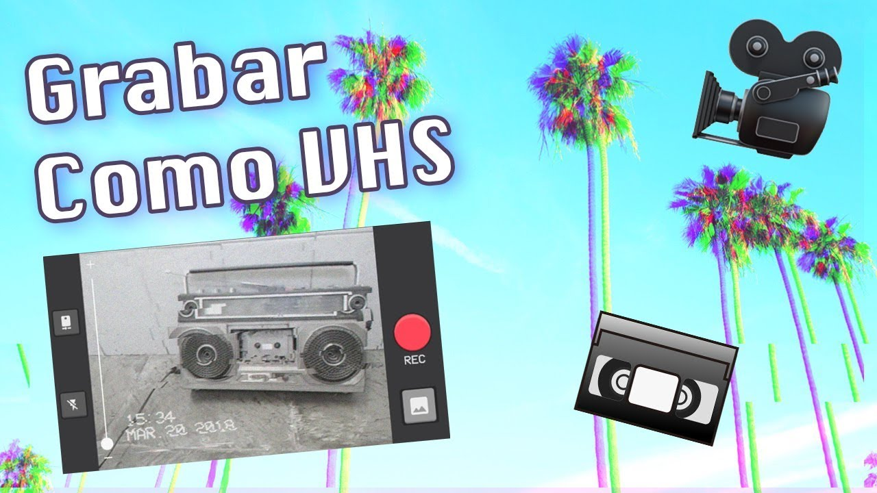 App para grabar estilo VHS Vintage Retro