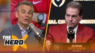 Colin makes his pick for tonight's title game between Alabama and Georgia | THE HERD