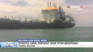 Puluhan Nelayan Usir Kapal Penyedot Pasir