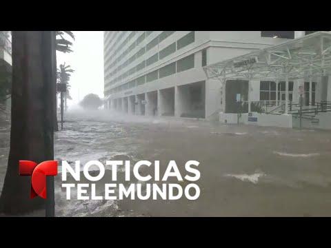 Brickell bajo el agua en el centro de Miami, Fl con el paso de Irma | Noticias | Noticias Telemundo