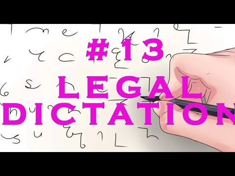 #13 | Legal Dictation | 80 wpm | Shorthand Dictation