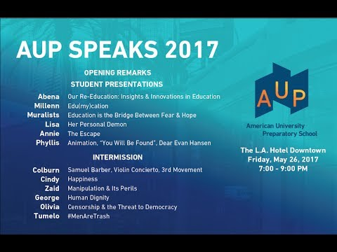 2017 AUP Speaks