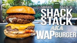 SHAKE SHACK'S SHACK STACK (aka THE WAP BURGER) | SAM THE COOKING GUY 4K