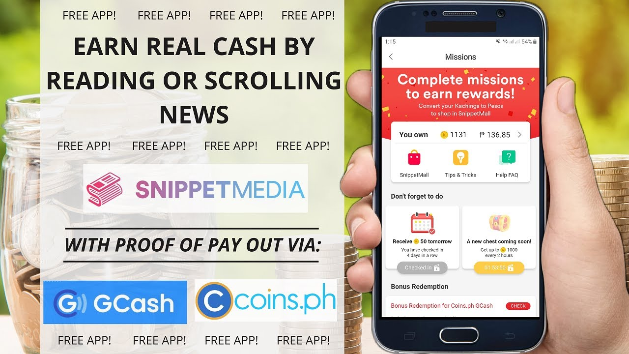 Earn money by reading or scrolling articles using your phone • Free app online 2020   With Sherlyn