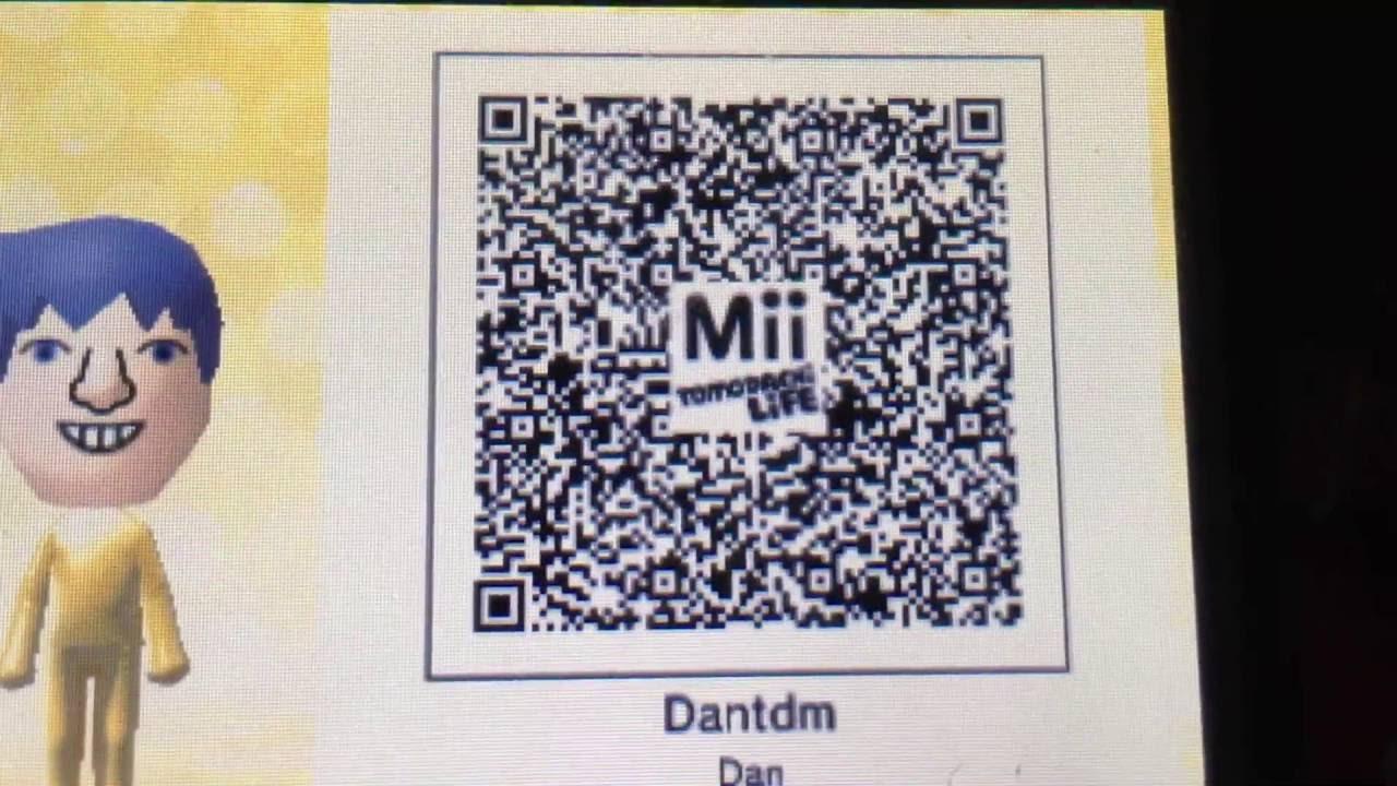 DanTDM Tomodachi Life Qr Code