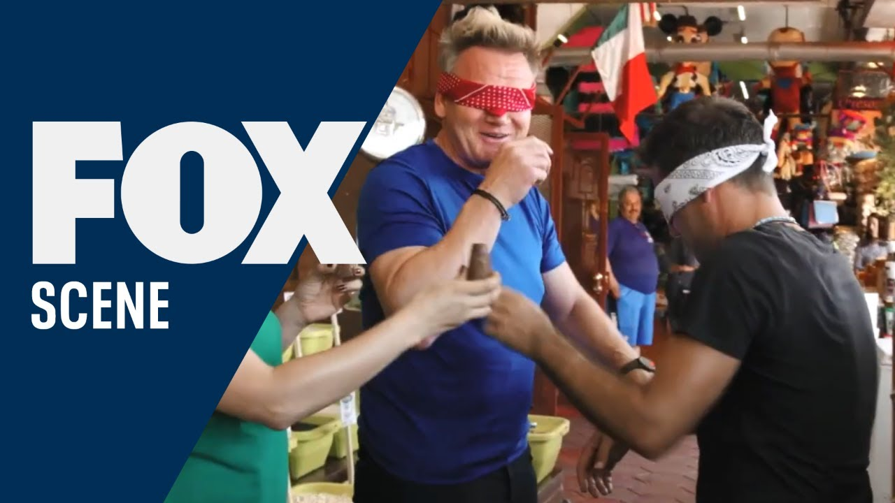 The Guys Do A Blind Taste Test With Chillies | GORDON RAMSAY'S AMERICAN ROAD TRIP