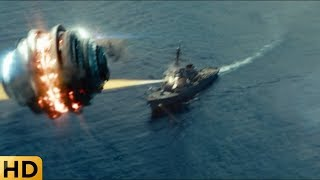 Инопланетное колесо уничтожает корабль ВМФ. Морской бой.