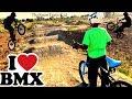 Kid Bmx Dirt Park Riding