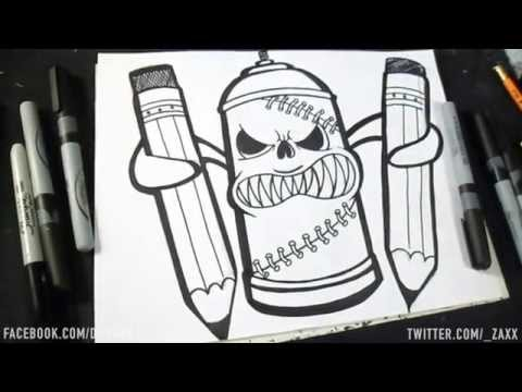 Dessin Bombe De Peinture Ii Graffiti Dwzaxx  Hot Clip New Video