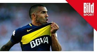 River Plate - Boca Juniors 2:4 / Carlos Tevez mit Doppelpack und Traumtor