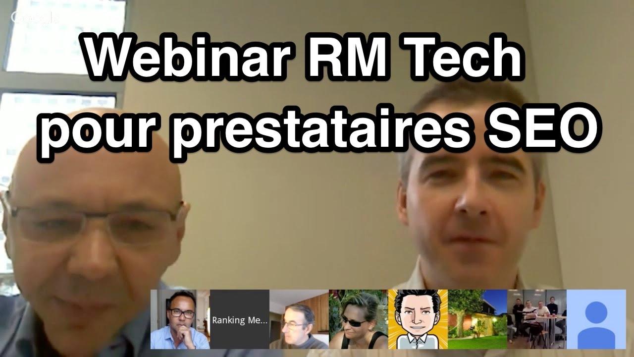 Webinar RM Tech pour prestataires SEO