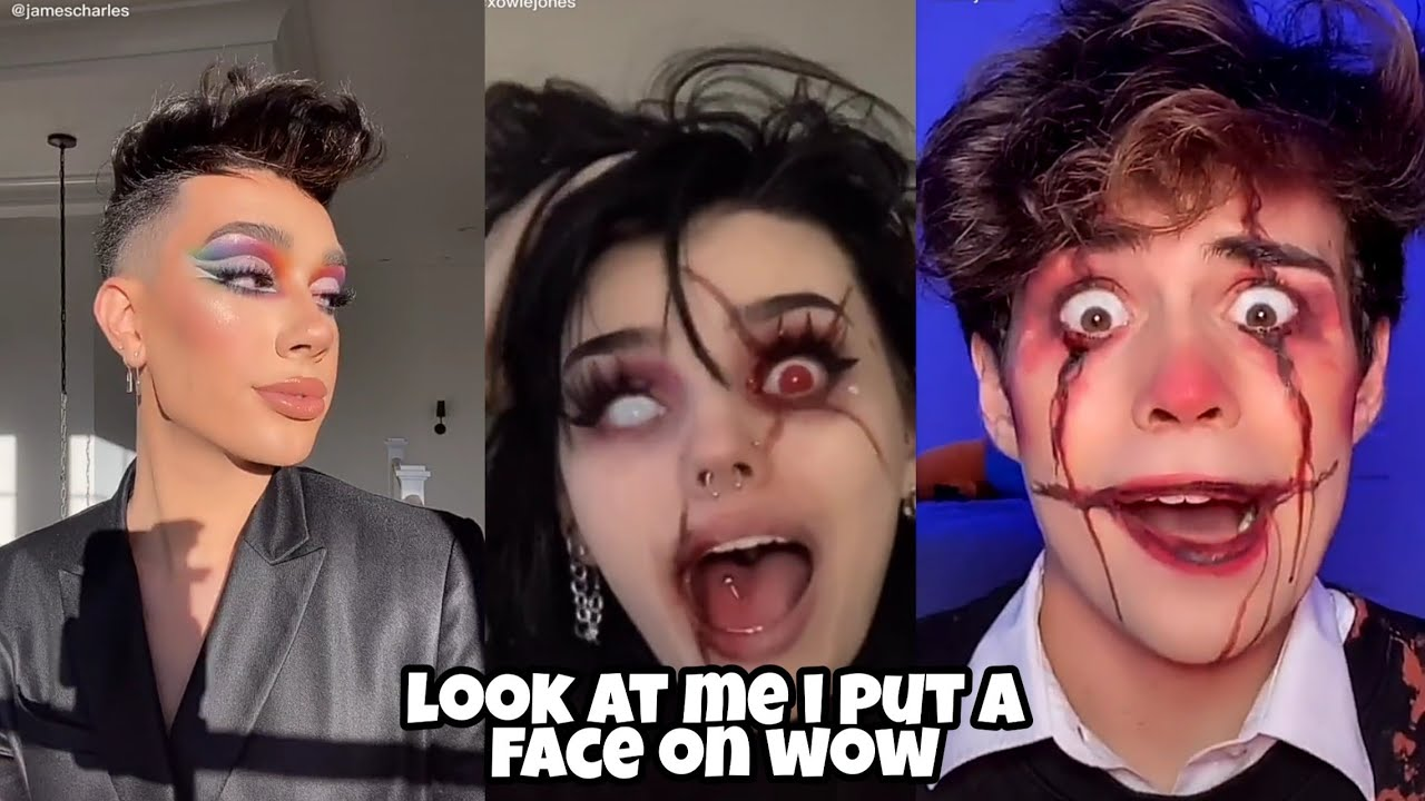 look at me i put a face on wow tiktok trend compilation