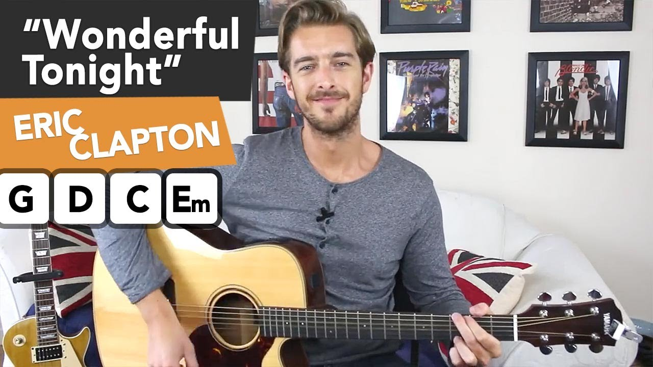 Eric Clapton Wonderful Tonight Acoustic Guitar Lesson Tutorial
