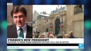 France  President Macron to name Prime Minister on 1st full day in office