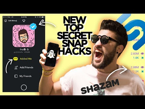 SNAPCHAT TRICKS & HACKS THEY DON'T WANT YOU TO KNOW ABOUT (2018)