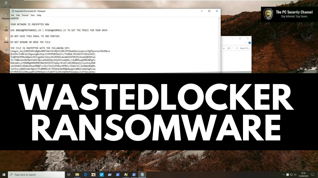 WastedLocker Ransomware: Analysis and Demonstration of the threat that cost Garmin millions