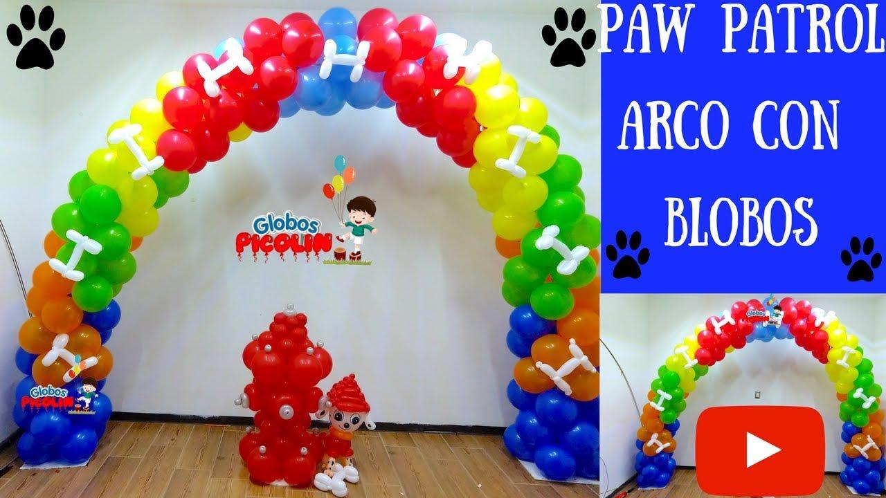 Paw patrol arco con globos my fácil - YouTube