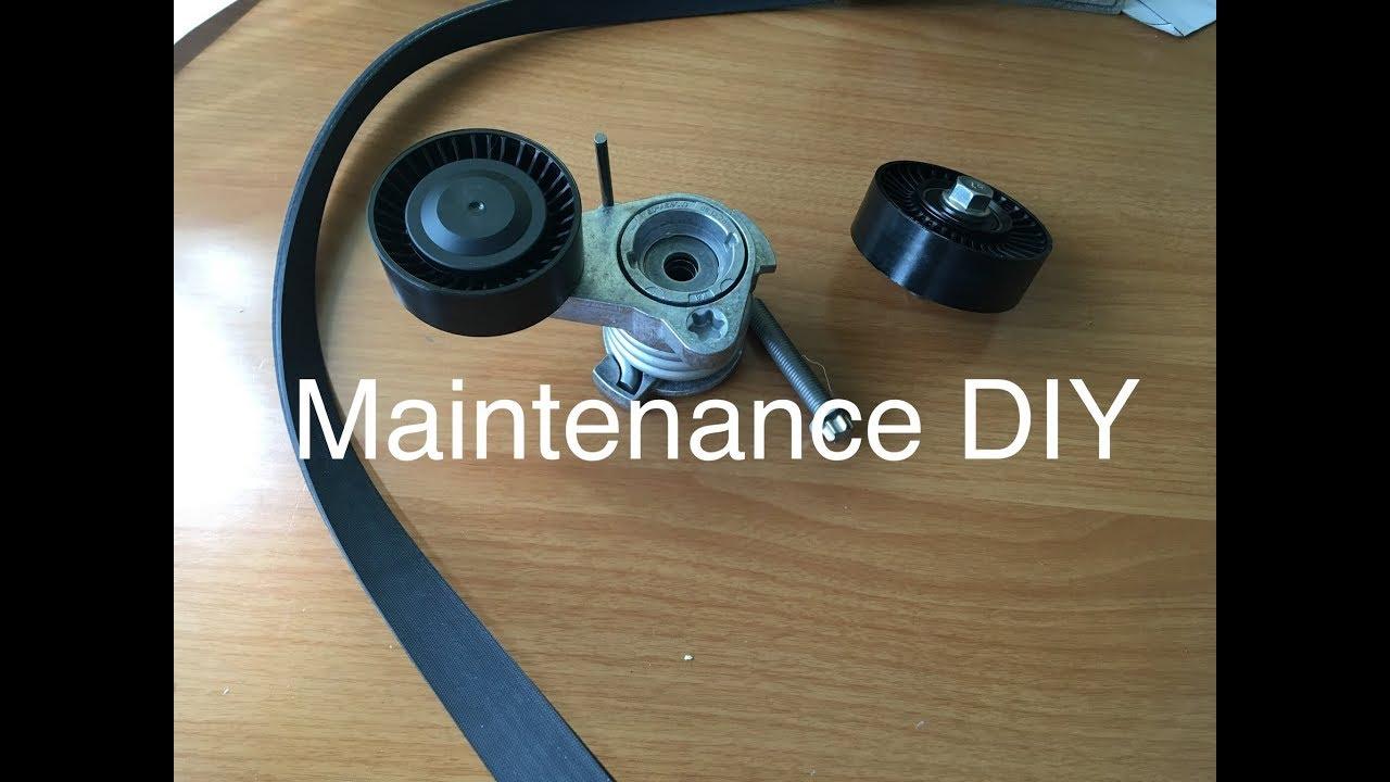 bmw n52 serpentine belt tensioner replacement diy e90 e91 e92bmw n52 serpentine belt [ 1280 x 720 Pixel ]
