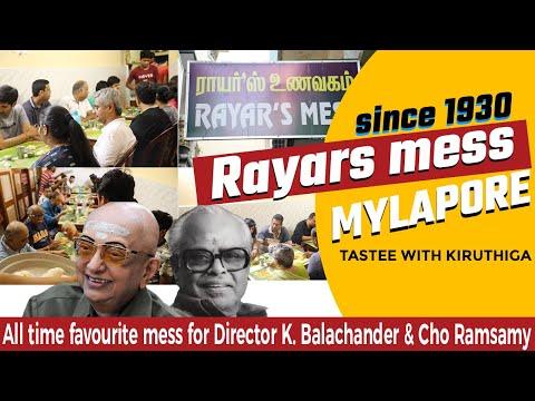 Mylapore RAYAR'S MESS | Vegetarian Hotel - Since 1930 | Tastee With kiruthiga