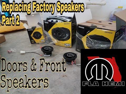 Replacing Factory Speakers  //  Part 2  //  Doors & Front Speakers