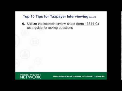 10 Tips For Taxpayer Interviewing Youtube