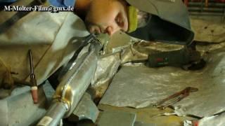 Dichtschweißen eines Auspuffs Mittelschalldämpfers ( Auspuff Schweißen ) M Molter Film