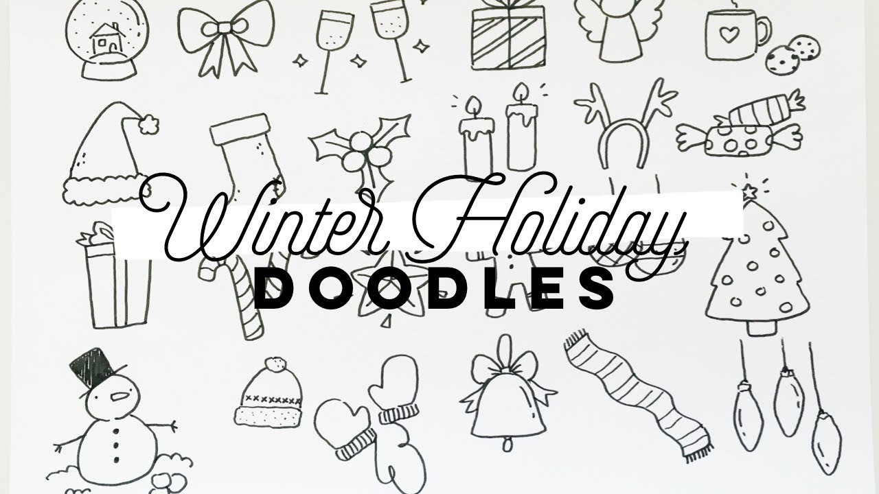 Simple Winter Holiday Doodles Doodle With Me Youtube