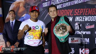 Roman Gonzalez vs. Carlos Cuadras COMPLETE Kickoff Press Conference & Face off video