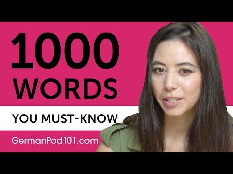 1000 Words Every German Beginner Must Know