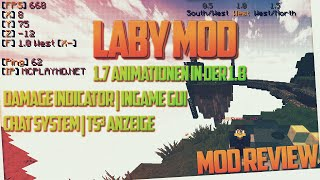 LABY MOD | Mod Review & Installation | 1.7 Animationen in 1.8 & erweitertes GUI & Damage ...