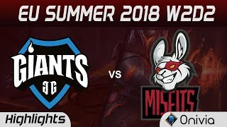 Video GIA vs MSF Highlights EU LCS Summer 2018 W2D2 Giants Gaming vs Misfits Gaming By Onivia download MP3, 3GP, MP4, WEBM, AVI, FLV Juni 2018