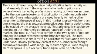 Put Call Ratio - Using It For Your Options Trading