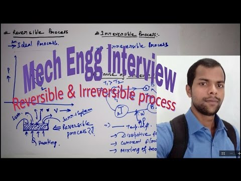 Reversible & Irreversible Process - For Mechanical Engineering Interview