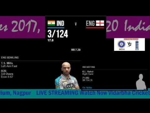 India v England Twenty20 Live score