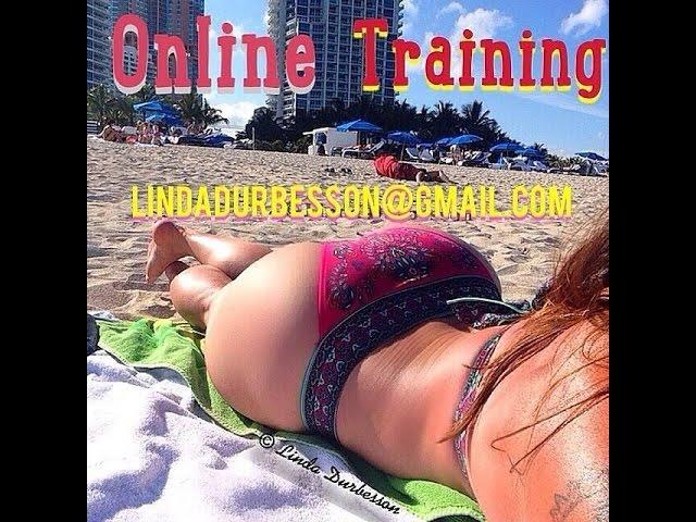 Linda Durbesson practicing night cardio session
