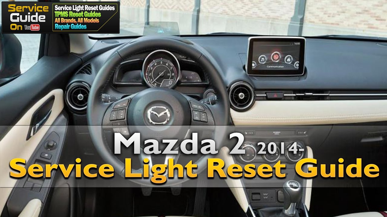 How To Reset Oil Change Service Due Wrench Light On Mazda 2