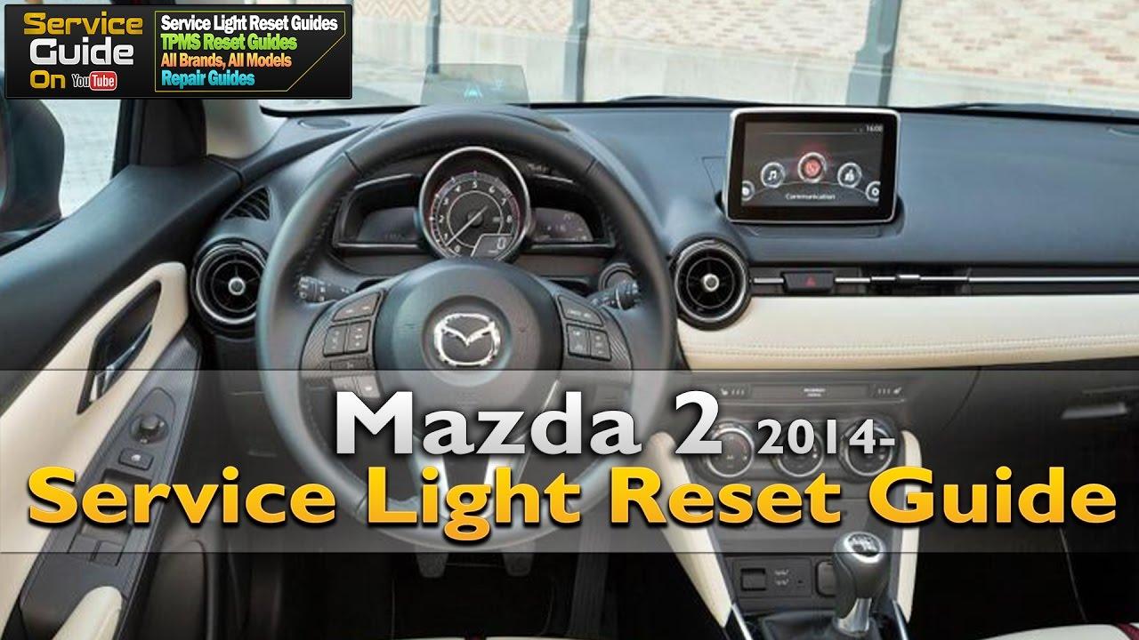 mazda 2 service light reset - youtube