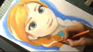 Speed Drawing: Anna (Frozen) by Diana Diaz